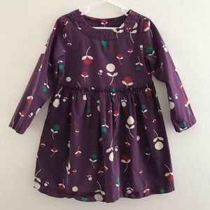 Hanna Andersson Floral Dress Purple Size 5/110